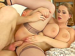 Big Melons On That Woman and a Hard Cock in Her Pussy