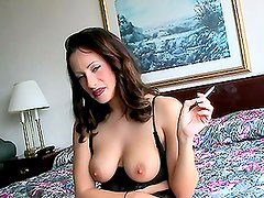 Brunette Big Boobed MILF with Fat Ass Riding a Hard Cock