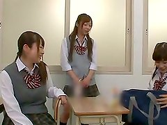 Beautiful Japanese school chick gets a dildo inserted