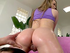 White Girl Madison Chandler with Big Butt Riding a Big Cock