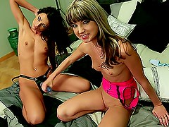 Backstage: Hot-Ass Lesbians With Strapon