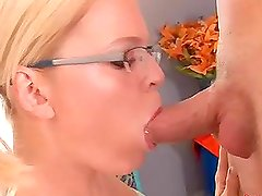 Sexy Teen in Glasses Lilli Leafe Getting Her Pink Pussy Opened Up