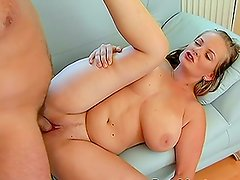 Chick With Huge Knockers And A Juicy Ass Getting Fucked