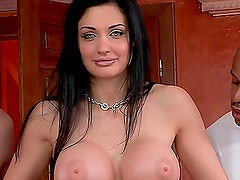 Aletta ocean gets fucked and jizzed by two guys