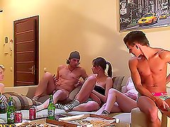 crazy orgy with college chicks right here