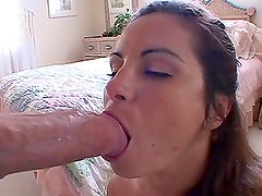 Big Cock Pouncing for a Big Breasted Brunette MILF's Shaved Pussy