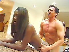 After Licking Peter North's Ass Naomi B is Ready for Interracial Sex