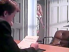 Kinky blonde chick gets her snatch fucked in the office