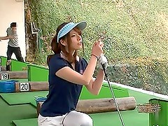 Beautiful Japanese Golf Instructor nailed!