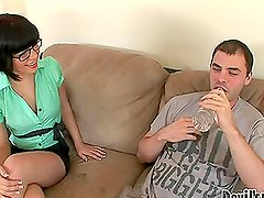Slutty teacher Jenna Moretti fucks her disobedient student Ralph Long