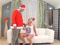 Santa Claus punishes nasty girl Kathy Sweet for her bad behaviour