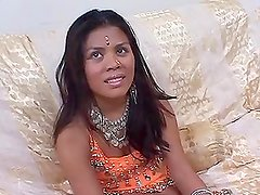 Nasty Indian babe in traditional clothes gets fucked and facialed