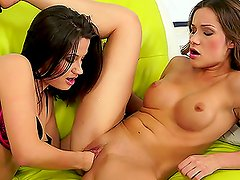 A Duo Of Delicious Dolls In Some Lesbian Action