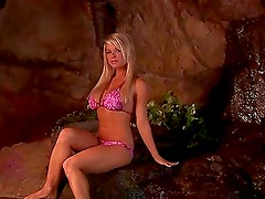 A Hot Bikini Solo Scene With The Gorgeous Blonde Nicole Violet Albright