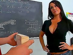 Brunette babe Savannah Stern gets hotly fucked in a workshop