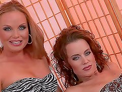 Silvia Saint and Cindy Dollar lick and toy each other