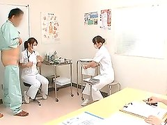 Japanese Nurses Give Great Handjobs In A Doctor's office
