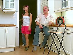 Luba is a babe who likes fucking old dudes