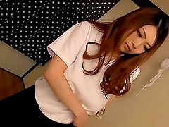 Japanese girl Rei Minami  is having fun with sex toy
