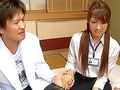 Japanese Office Girl Climbs On A Dick And Rides It Like A Horse