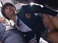 Naughty Japanese Teen getting fucked in the public place