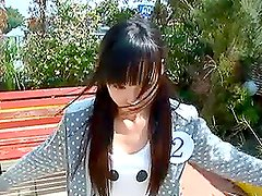 Teen girl in school swimsuit Sayaka Kazuki gets drilled