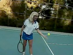 Leanni Lei and  Silvia Saint getting fucked on a tennis court