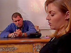 Mazzy Paige the sexy blonde gets fucked in the office