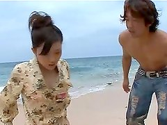 Stunning Rin Sakuragi gets fucked hard on the beach