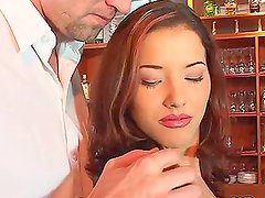 Angel Dark takes Mike Foster's cock in her sweet pussy and tight asshole