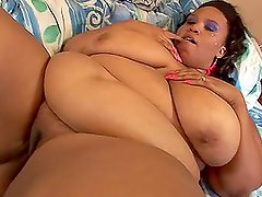 Alyze th e fat Black babe getting fucked hard and deep