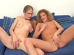 Michelle Strack and Sarah Sweet give double blowjob to lucky guy