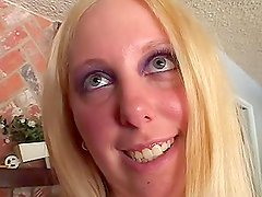 Christal Rose the busty blonde chick having interracial sex