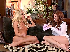 THese two slutty babes Aaliyah Love and Sabrina Maree get lesbian