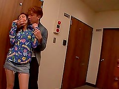 Beautiful Saki Yano blows a cock and swallows cum