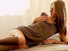 Amazing XXX video with sexy Anjelica fingering her pussy