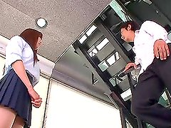 Ayana Haruki the teen schoolgirl gives a blowjob to her teacher