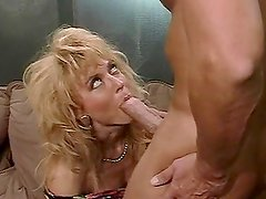 Tugjob - Nina Hartley sucks Peter North's cock before and after riding it