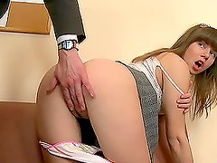 Sexy college girl Wendy fucks her professor hard