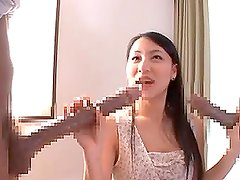 Koi Azumi the sexy Japanese babe gets pounded by massive cock!