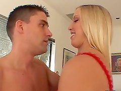 Cassie Young gets a facial cumshot as a reward for her cock-riding skills