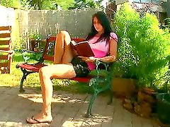 Alina gets caught and fucked hard in the courtyard