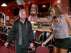 Charming babe Nika Noir gets hotly fucked on the bar counter