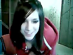A cute teen masturbates her pussy in front of a webcam