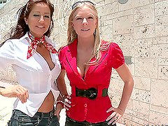 The MILF Bring's a hot blondy and gets banged together