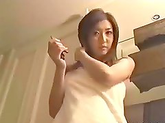 Sexy Japanese teen having a nice evening sex with her boyfriend