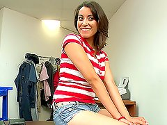 Brunette latina girl likes her body getting naked and fucked