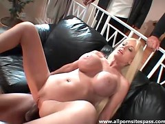 Hubby watches her make BBC DP porn