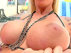 Beautiful blondy Brooke Banner loves a hard dick in her sight