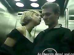 POV video of a hot intensive blowjob filmed in the elevator